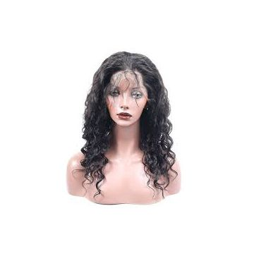 100g Double Layers 16 Inches Front Lace Loose Weave Human Hair Wigs For White Women
