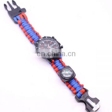 China factory paracord watch survival watch multifunctional sport watch