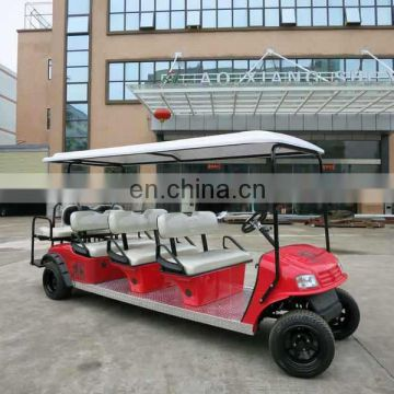Green 8 seater electric farm cart utility vehicle