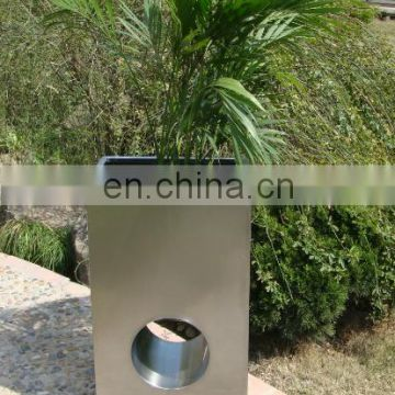 2mm Thickness Cheap Stainless Steel Big Outdoor Flower Pots