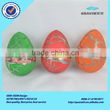 Wholesale custom unique pink purple yellow white blue and red dinosaur egg toys for educational game