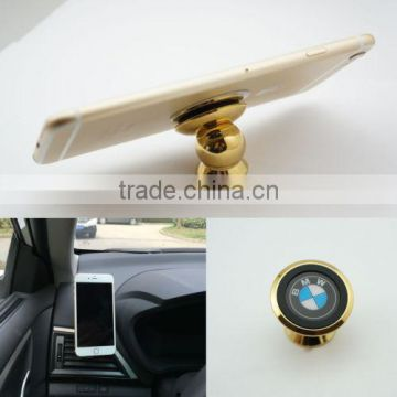 cheap china alibaba Gold 360 degree rotate Sticky Stand magnetic car phone mount