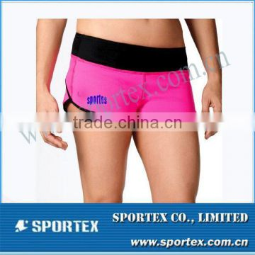 Embroidery Contrast Colo Ladies Compression Bottom MZ0419