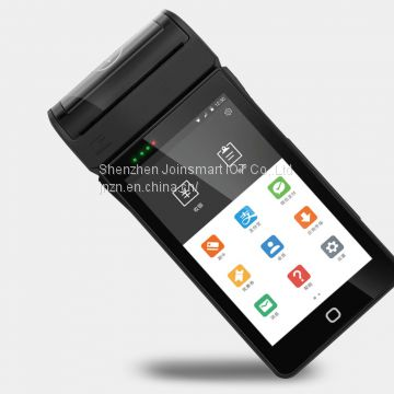 Handheld android POS terminal with thermal printer