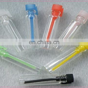 mini glass vial transparent glass tube bottle with pen cap 1ml 2ml 3ml vial, sample perfume vial