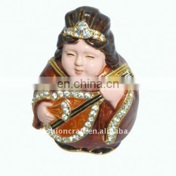 China God metal trinket box