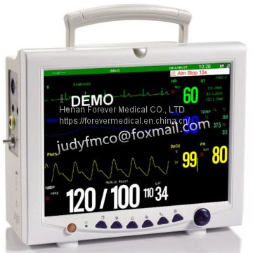 Ce Medical Equipment 12 Inch ICU Portable Multi-Parameter Patient Monitor