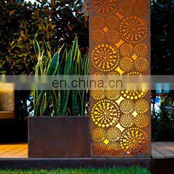 Outdoor Rusty Metal Decorative Advertising Light Boxes