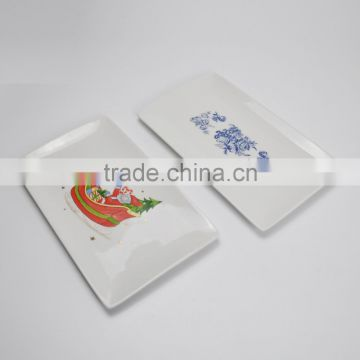 ceramic square plate with customized printing ,promotional items
