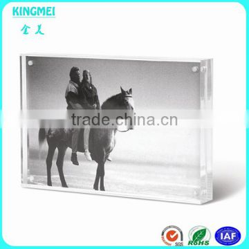 KM-CP42 wholesale nice crystal photo block lucite in frame acrylic ...