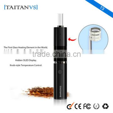 Best Glass Heating Chamber for Dry Herb/Flower Electronic Vaporizer Adjustable Temperature Range 200-430F