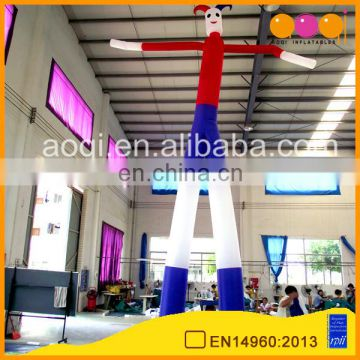 customize cheap 2-leg clown sky dancer inflatable air man dancer