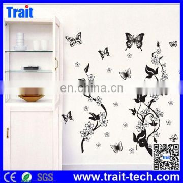 Beautiful design Removable Decals with Butterfly Pattern Wall Stickers 50x70cm,butterfly wall sticker