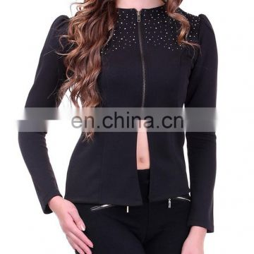 Beautiful Black Crystal Studded Jacket for women
