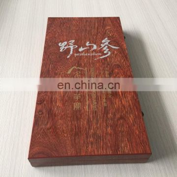 High quality Pecan wooden packaging gift box