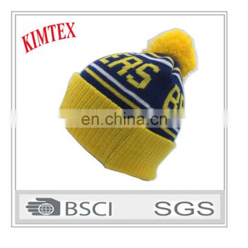 Custom Wholesale 100% Acrylic With Pom Winter Hats