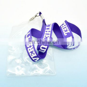2015 promotion custom fashion lanyard id card badge holder