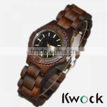 Small dail bamboo wooden watch,auto date,fashionable and luxury watch
