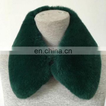 Cute real rabbit fur square collar for women lady winter garment fashion