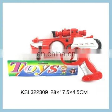 Red & Black B/O space gun with light gun toy
