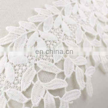 Wholesale 10cm width embroidered polyester chemical lace trim