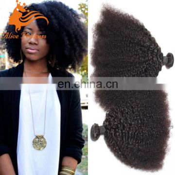 Mongolian Afro Kinky Curly Human Hair Extensions Afro kinky twist hair extensions weft wholesale weft sealer