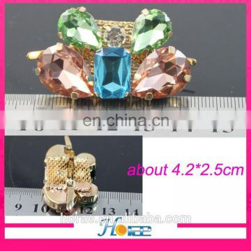 high quality crystal rhinestone shoe accessory shoe buckle for lady shoes