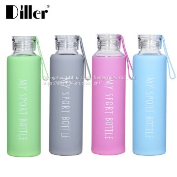c9bf2b9bb4 Wholesale custom logo 750ml 550ml 500ml borosilicate glass drink water  bottle with silicone sleeve of Glass water bottles from China Suppliers -  159053967