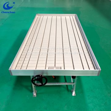 Greenhouse rolling bench ebb and flow rolling table for seedling