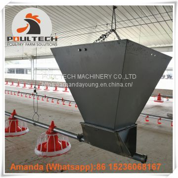 Morocco Poultry Farming Equipment Broiler Floor Raising System & Chicken Deep Litter System with Automatic Drinking & Feeding Pan System in Chicken Coop