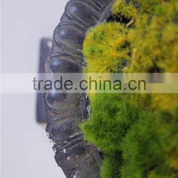 artificial moss flocking stone tower shape craft man made moss tower
