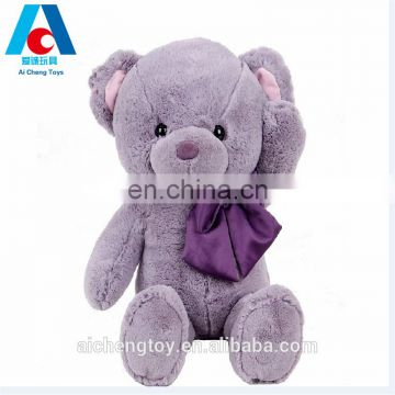 high quality purple lavender elegant teddy bear toy with scraf
