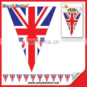 11ft Bunting Union Jack 12 flags Pennant