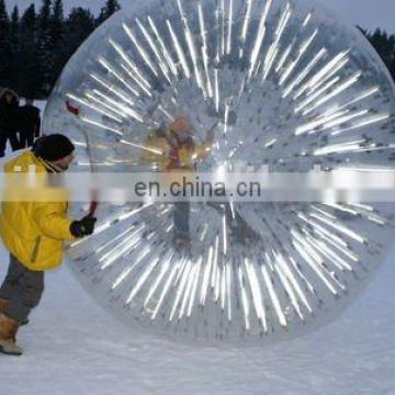 Shining inflatable snow rolling ball