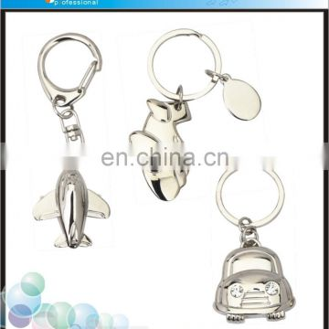 High quality promotional custom souvenir airplane keychain