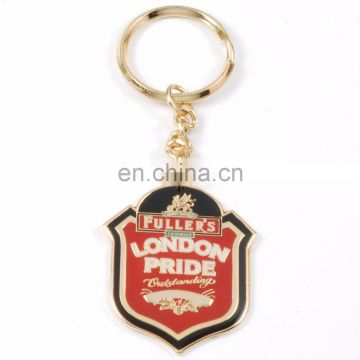 2017 Factory Price OEM Custom Design Double Plating Gold Silver METAL KEY RING Keychain