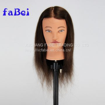 Xuchang factory popular female cheap hair mannequin head with 100% human hair