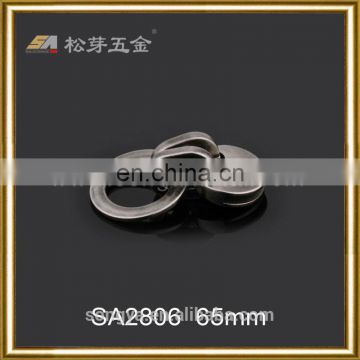 Zinc Alloy Key Buckle, Gunmetal Color Plating Key Ring Buckle, Factory Produced Key Buckle