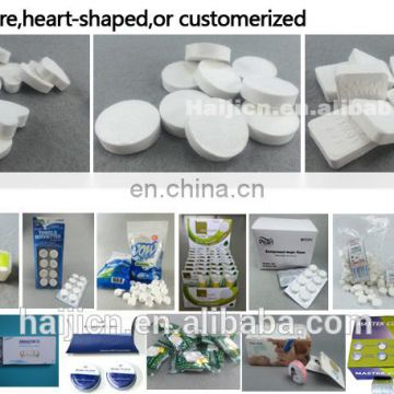 china factory direct sale 10pcs tube packing pure rayon compressed nonwoven tissue/napkins/towels of oem or odm production