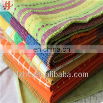 Kitchen good quality plain checked cotton woven kitchen towel set