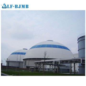 Prefabricated Space Frame Dome Roof Coal Storage Shed Mosque Dome Cement Storage