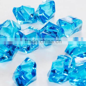 Blue acrylic stone artificial stone fish can filler