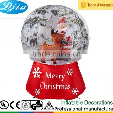6' Inflatable Snow Globe with Santa & Reindeer Christmas Holiday Decoration New
