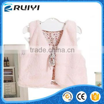 wholesale clothes baby kids winter faux fur outwear vest