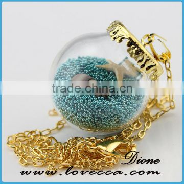 hollow decorative clear glass ball for making diy jewelry