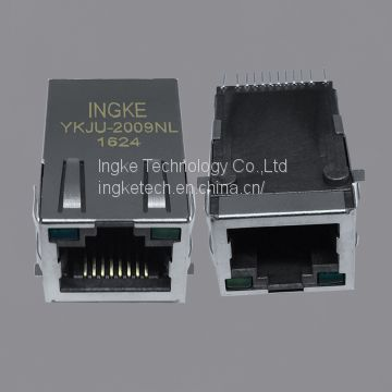 J3011G21DNL YKJU-2009NL 10/100 Base-T, AutoMDIX SMT rj45 connector with integrated magnetics