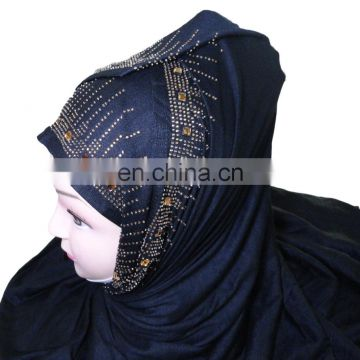 Stoles With Golden Stone Work / Latest Embroidery Dupatta For Daily Wear / Hosiery Cotton Headscarf 2017 (scarves scarf stoles)