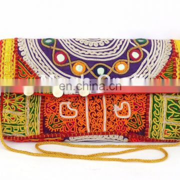 Afghan Clutch Bag-Bohemian Banjara Ethnic Handbag-Vintage Hand embroidery Gypsy Tribal Banjara Clutch Purse