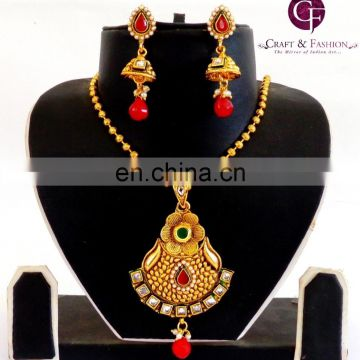 South Indian one gram gold Pendant Set-Indian traditional Pendant Set-imitation polki pendant set Wholesale