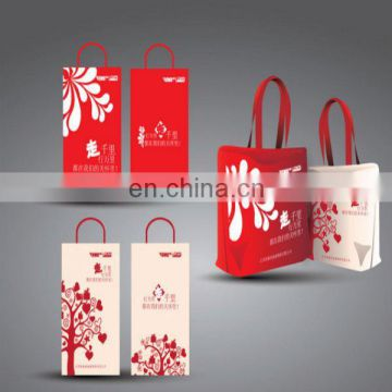 Eco-friendly colorful Tote Shopping nonwoven cotton fabric disposable